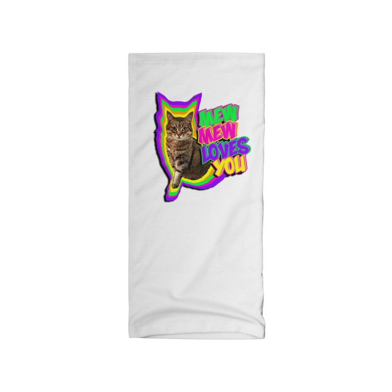 Mew Mew Loves You! Accessories Neck Gaiter by MCGILSKY DESIGN SHOP