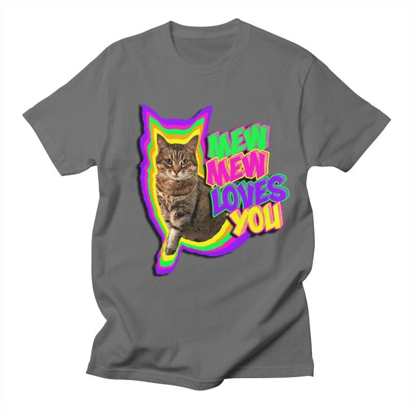 Mew Mew Loves You! Men's T-Shirt by MCGILSKY DESIGN SHOP
