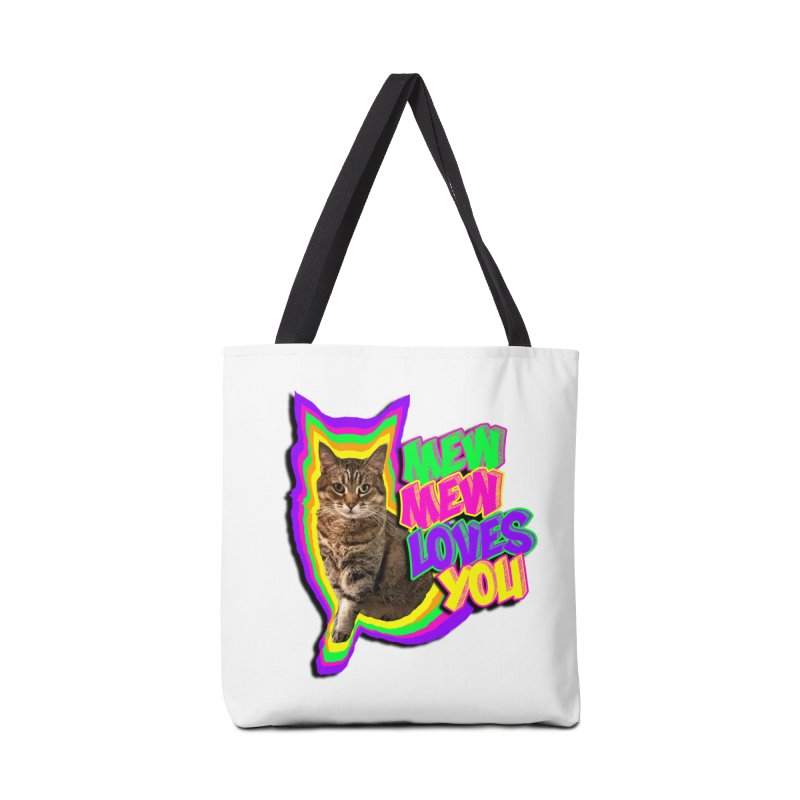 Mew Mew Loves You! Accessories Bag by MCGILSKY DESIGN SHOP