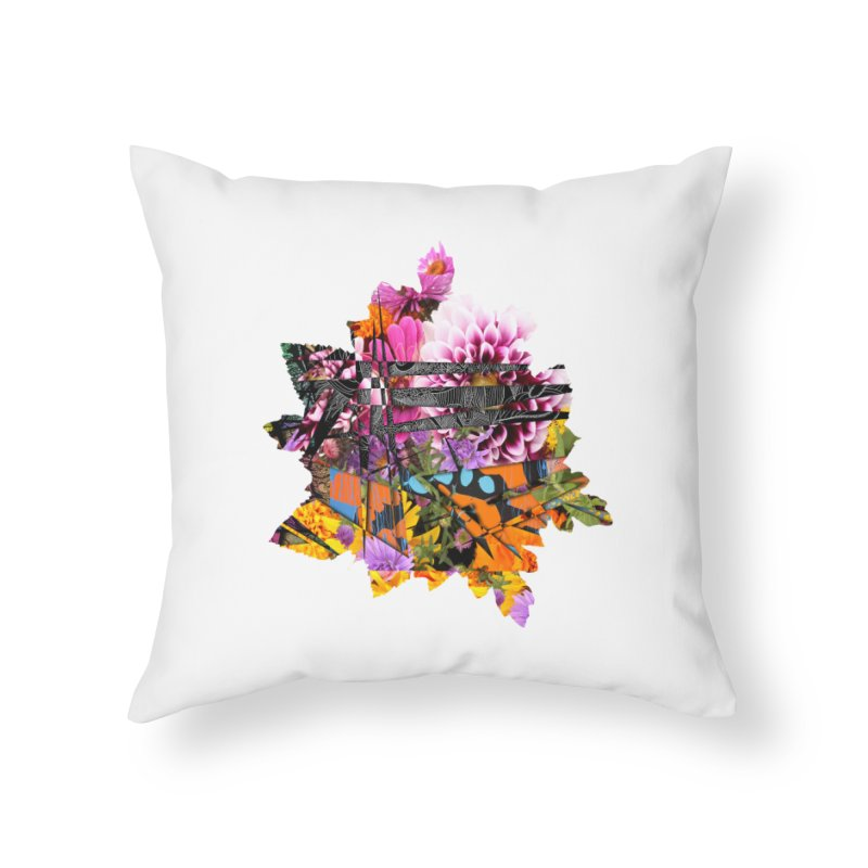 Abstract Flower Home Throw Pillow by MCGILSKY DESIGN SHOP