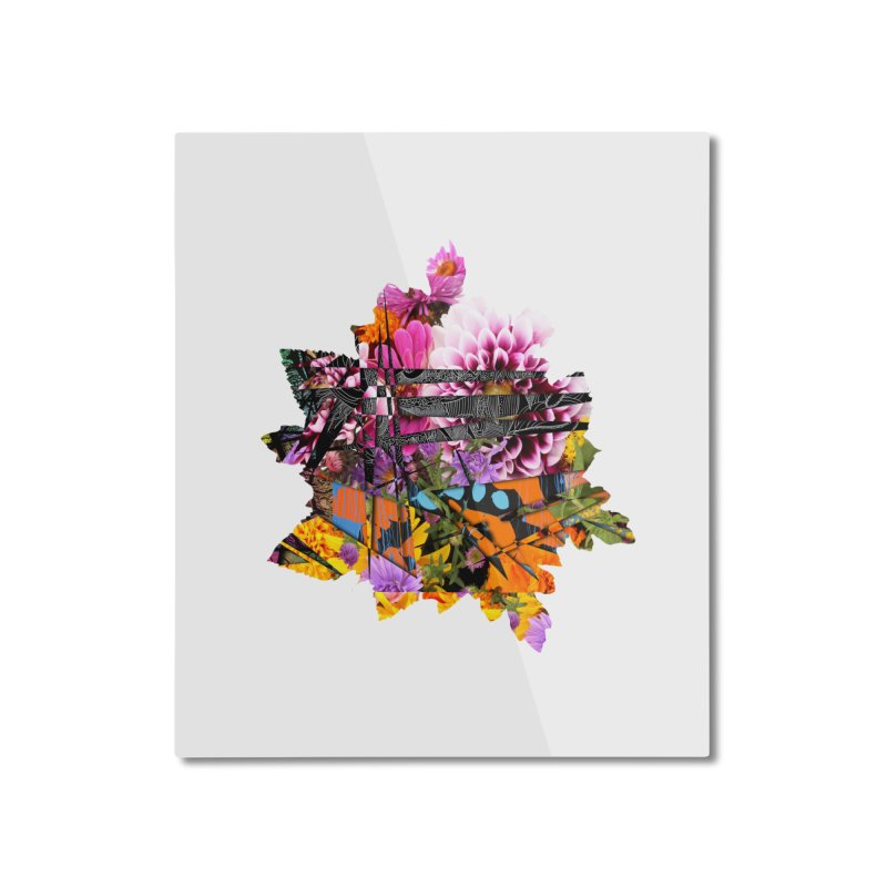 Abstract Flower Home Mounted Aluminum Print by MCGILSKY DESIGN SHOP