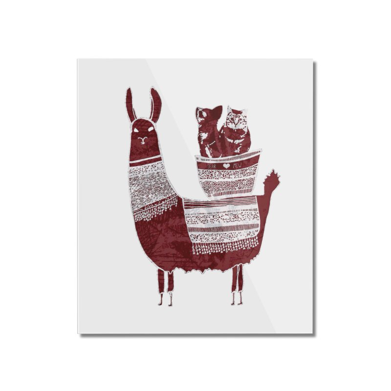 Mew and Bear BFFs Home Mounted Acrylic Print by MCGILSKY DESIGN SHOP
