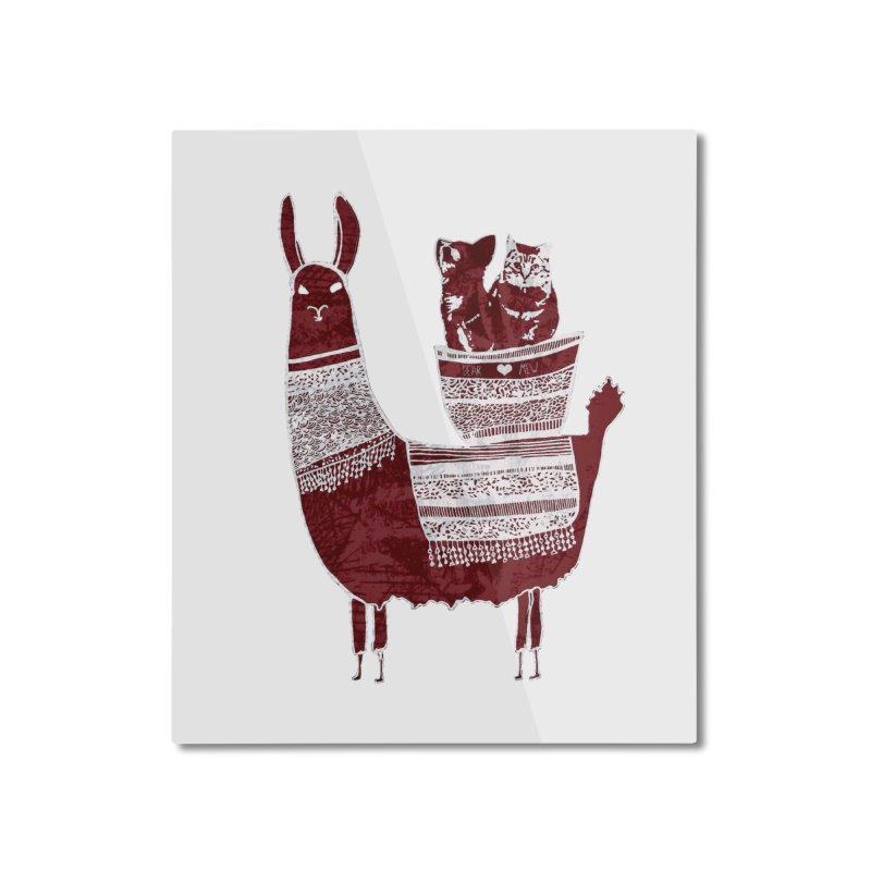 Mew and Bear BFFs Home Mounted Aluminum Print by MCGILSKY DESIGN SHOP