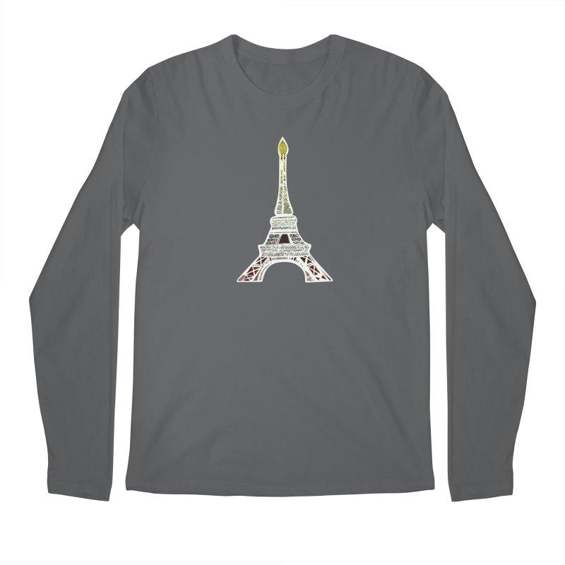 Eiffel Tower Men's Longsleeve T-Shirt by MCGILSKY DESIGN SHOP