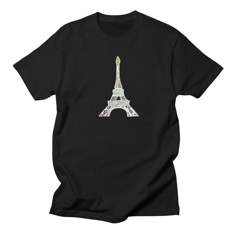 Eiffel Tower Men's T-Shirt by MCGILSKY DESIGN SHOP