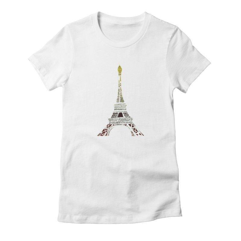 Eiffel Tower Women's T-Shirt by MCGILSKY DESIGN SHOP