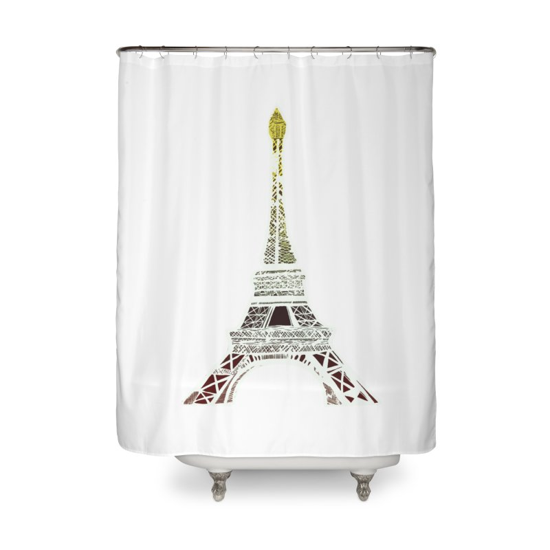 Eiffel Tower Home Shower Curtain by MCGILSKY DESIGN SHOP