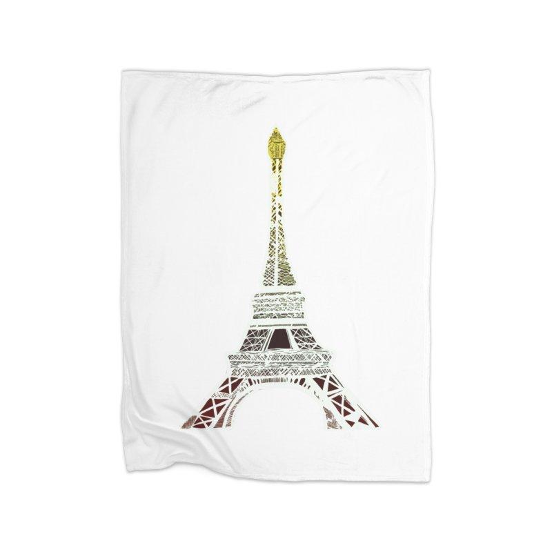 Eiffel Tower Home Blanket by MCGILSKY DESIGN SHOP