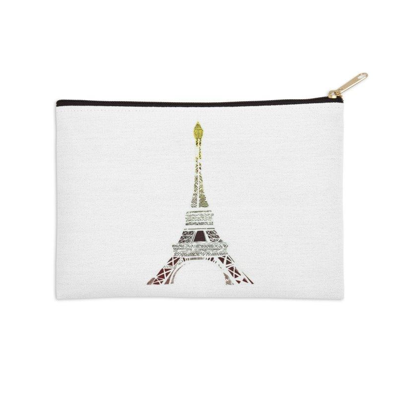 Eiffel Tower Accessories Zip Pouch by MCGILSKY DESIGN SHOP