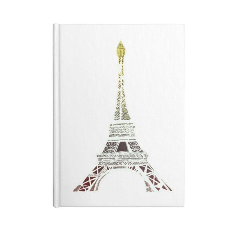 Eiffel Tower Accessories Notebook by MCGILSKY DESIGN SHOP
