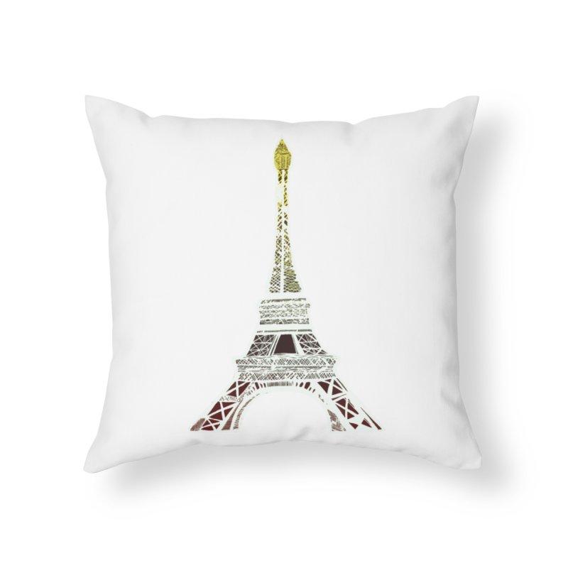Eiffel Tower Home Throw Pillow by MCGILSKY DESIGN SHOP