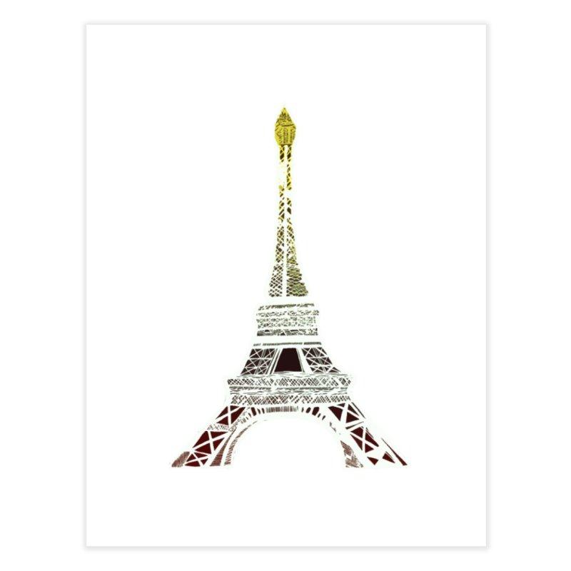 Eiffel Tower Home Fine Art Print by MCGILSKY DESIGN SHOP