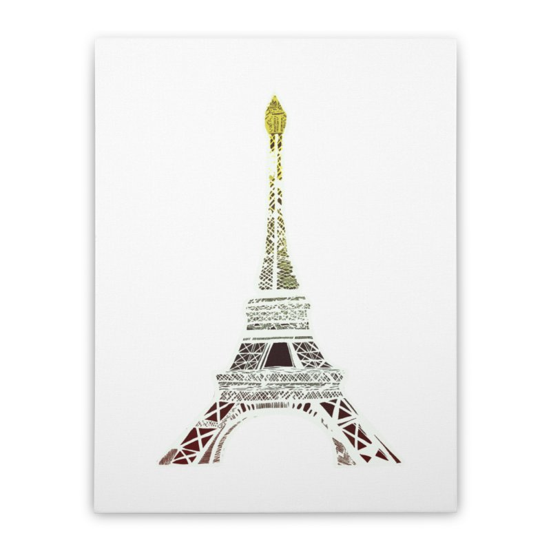 Eiffel Tower Home Stretched Canvas by MCGILSKY DESIGN SHOP