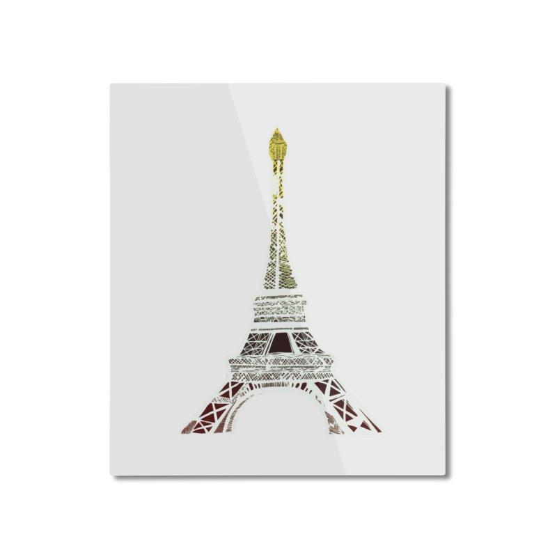 Eiffel Tower Home Mounted Aluminum Print by MCGILSKY DESIGN SHOP