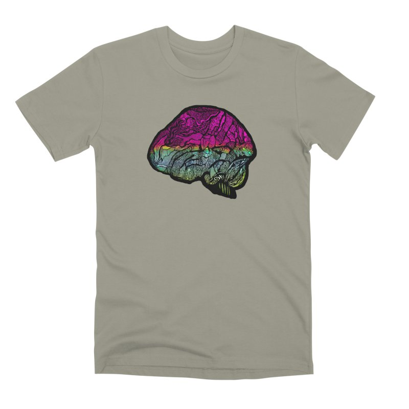 Solo Brain Men's T-Shirt by MCGILSKY DESIGN SHOP