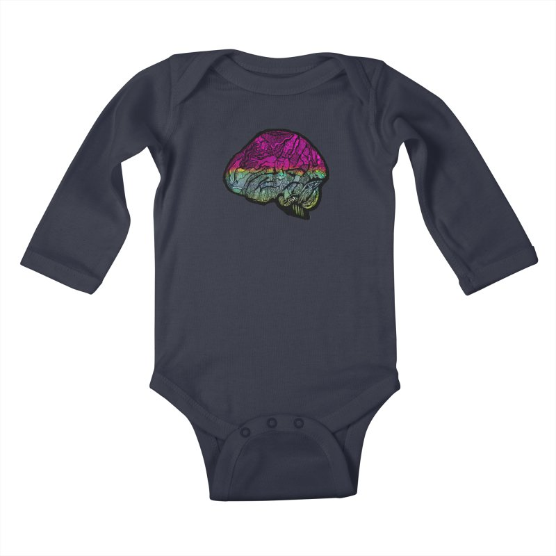 Solo Brain Kids Baby Longsleeve Bodysuit by MCGILSKY DESIGN SHOP