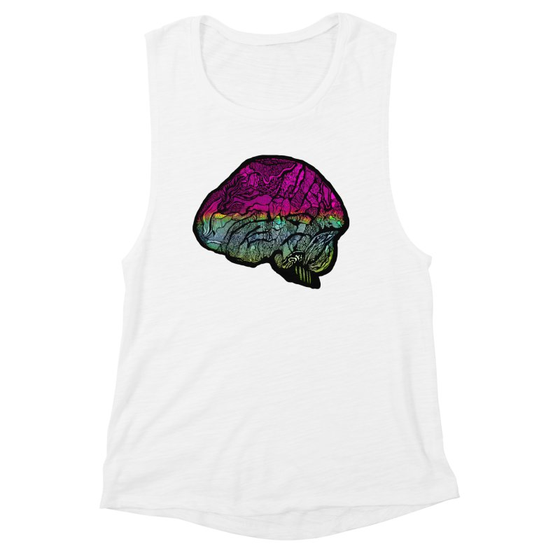 Solo Brain Women's Tank by MCGILSKY DESIGN SHOP