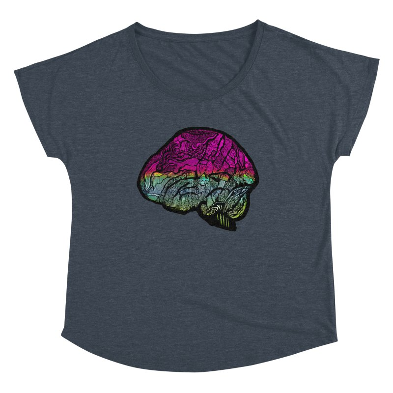 Solo Brain Women's Scoop Neck by MCGILSKY DESIGN SHOP