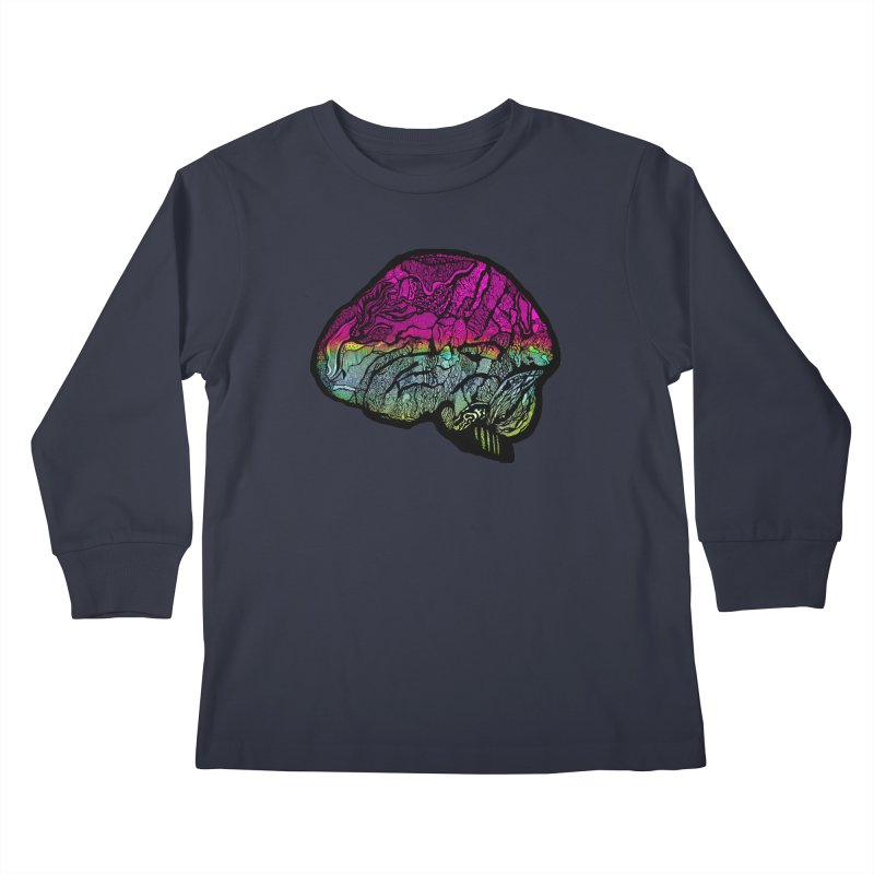 Solo Brain Kids Longsleeve T-Shirt by MCGILSKY DESIGN SHOP
