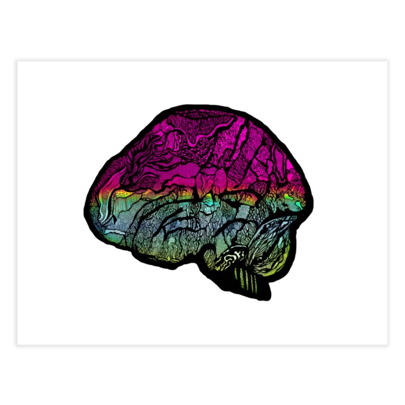 Solo Brain Home Fine Art Print by MCGILSKY DESIGN SHOP