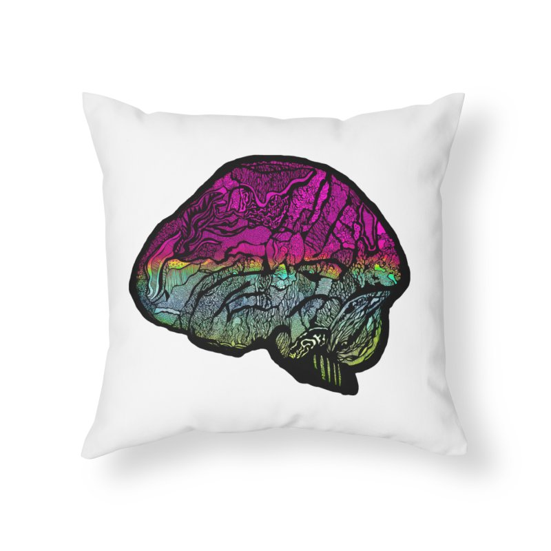 Solo Brain Home Throw Pillow by MCGILSKY DESIGN SHOP