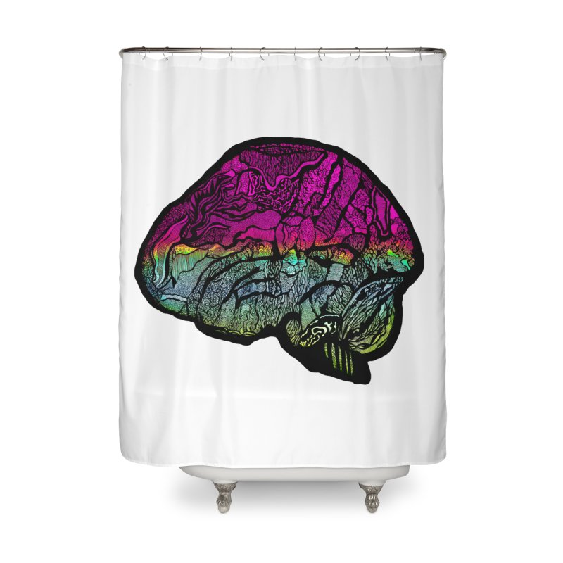 Solo Brain Home Shower Curtain by MCGILSKY DESIGN SHOP