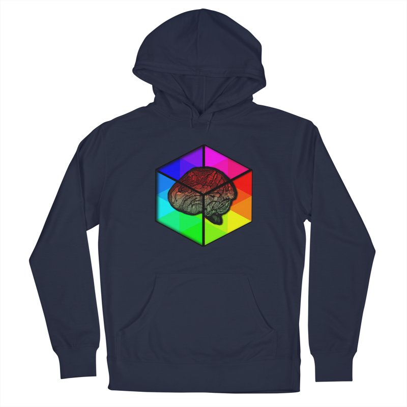 Brain Cube on Color Men's Pullover Hoody by MCGILSKY DESIGN SHOP