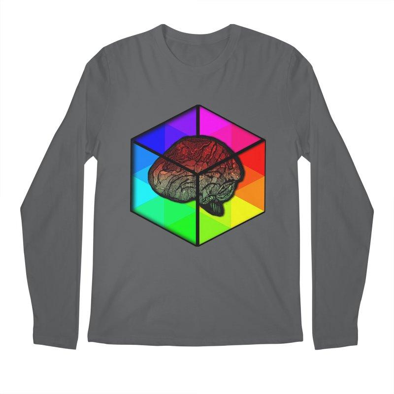 Brain Cube on Color Men's Longsleeve T-Shirt by MCGILSKY DESIGN SHOP
