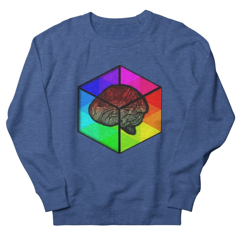 Brain Cube on Color Men's Sweatshirt by MCGILSKY DESIGN SHOP