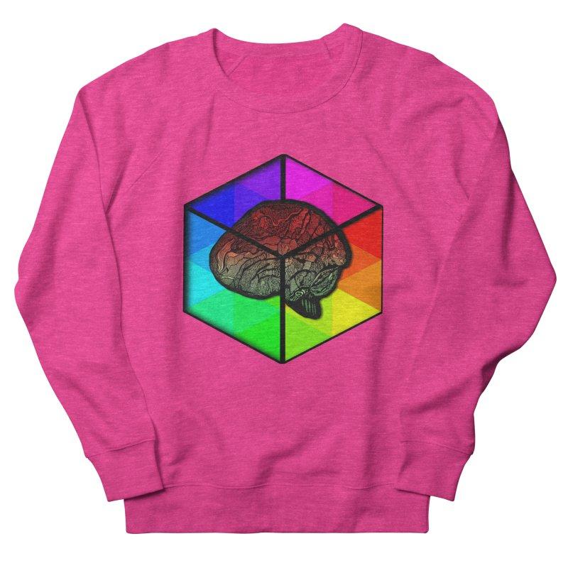 Brain Cube on Color Men's Sweatshirt by MCGILSKY DESIGN SHOP