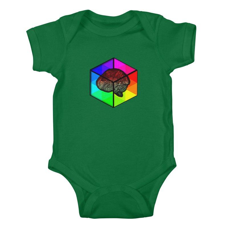 Brain Cube on Color Kids Baby Bodysuit by MCGILSKY DESIGN SHOP