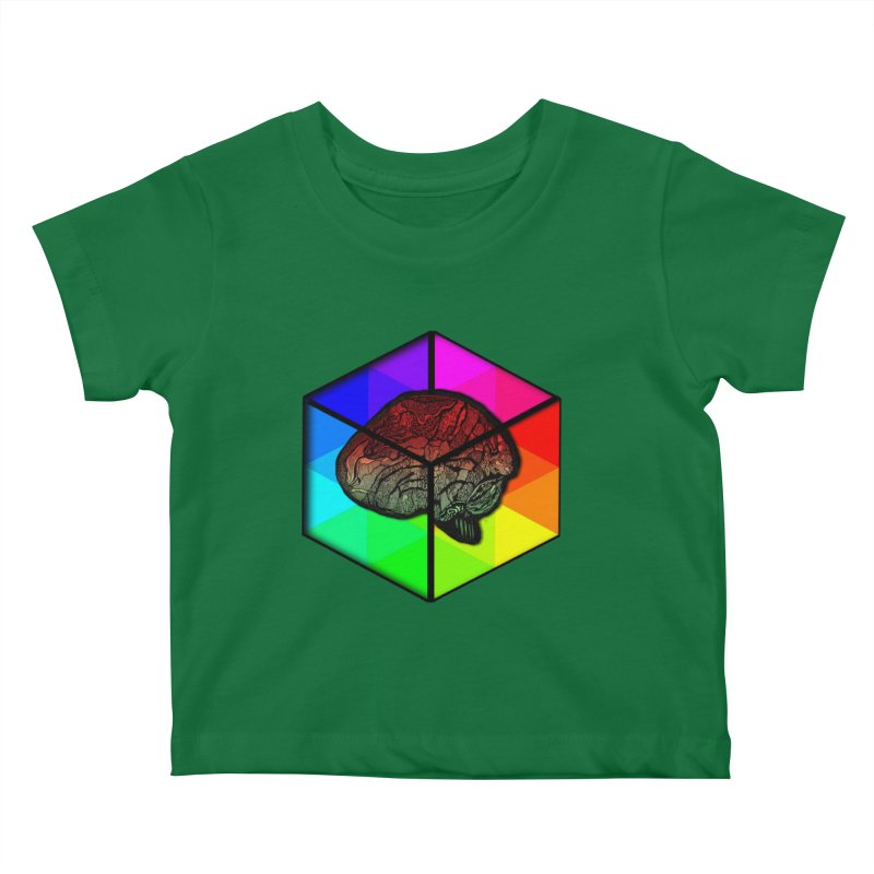 Brain Cube on Color Kids Baby T-Shirt by MCGILSKY DESIGN SHOP