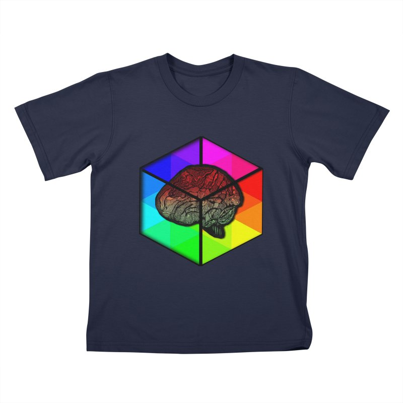 Brain Cube on Color Kids T-Shirt by MCGILSKY DESIGN SHOP