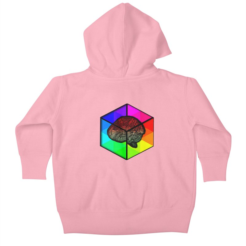 Brain Cube on Color Kids Baby Zip-Up Hoody by MCGILSKY DESIGN SHOP