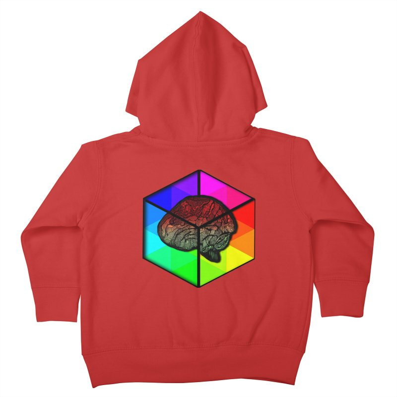 Brain Cube on Color Kids Toddler Zip-Up Hoody by MCGILSKY DESIGN SHOP