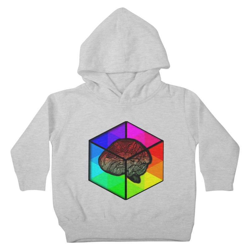 Brain Cube on Color Kids Toddler Pullover Hoody by MCGILSKY DESIGN SHOP