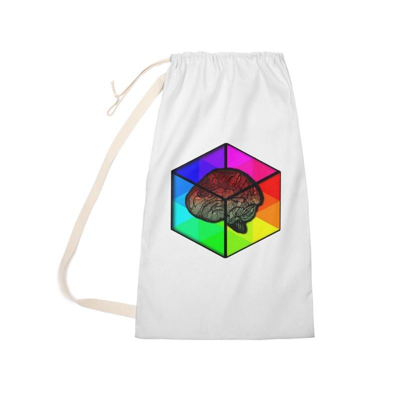 Brain Cube on Color Accessories Bag by MCGILSKY DESIGN SHOP