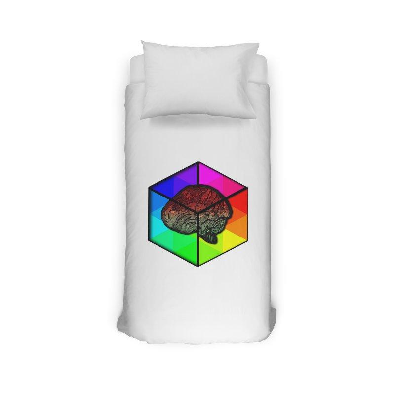 Brain Cube on Color Home Duvet by MCGILSKY DESIGN SHOP