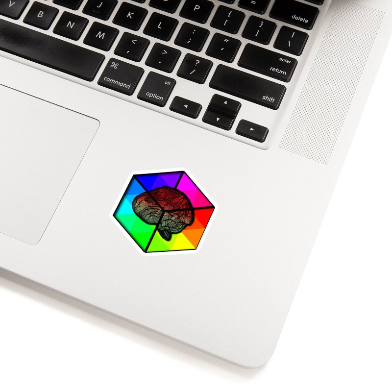 Brain Cube on Color Accessories Sticker by MCGILSKY DESIGN SHOP