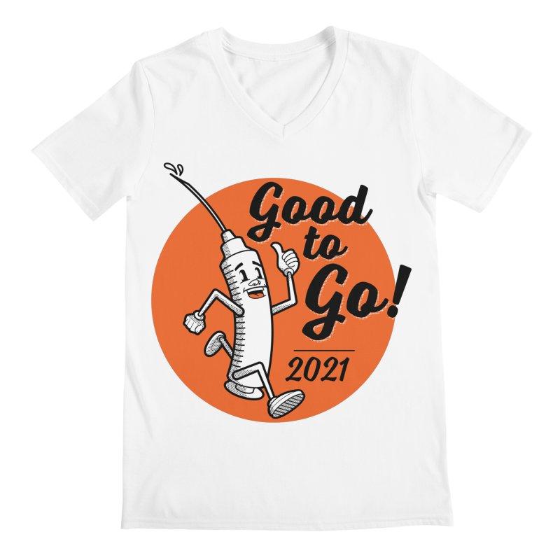 Lil' Vaxy is Good to Go! Men's V-Neck by mckibillo's Artist Shop
