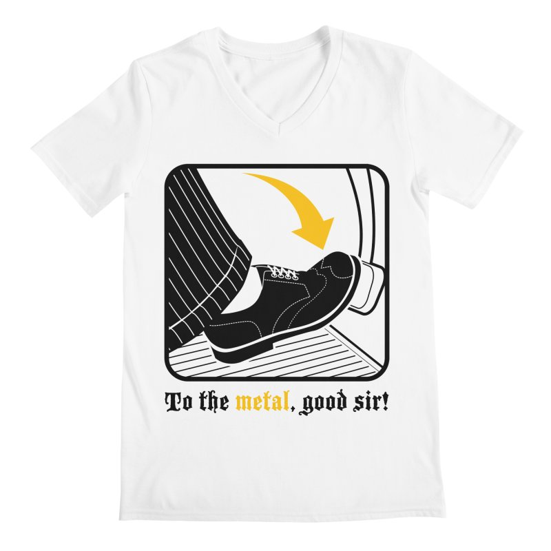 Push it Jeeves! Men's V-Neck by mckibillo's Artist Shop