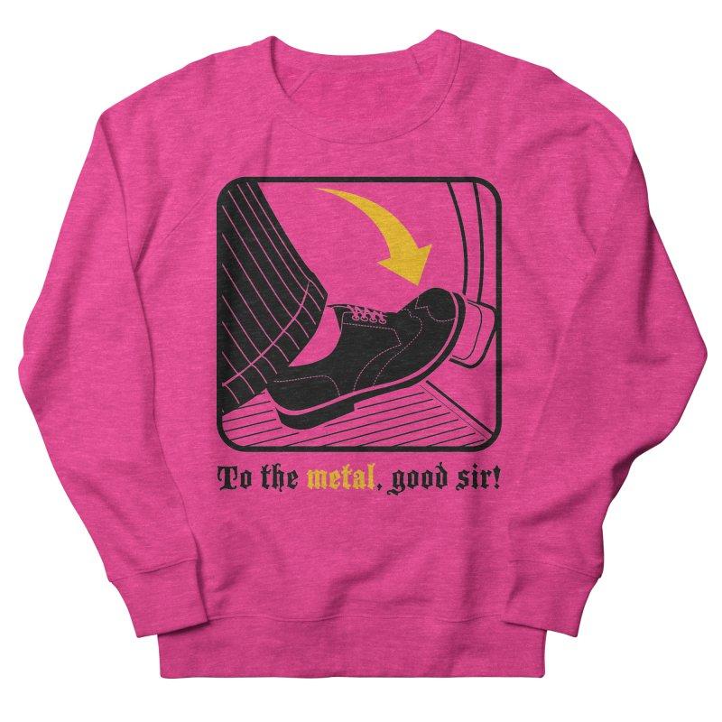 Push it Jeeves! Women's French Terry Sweatshirt by mckibillo's Artist Shop