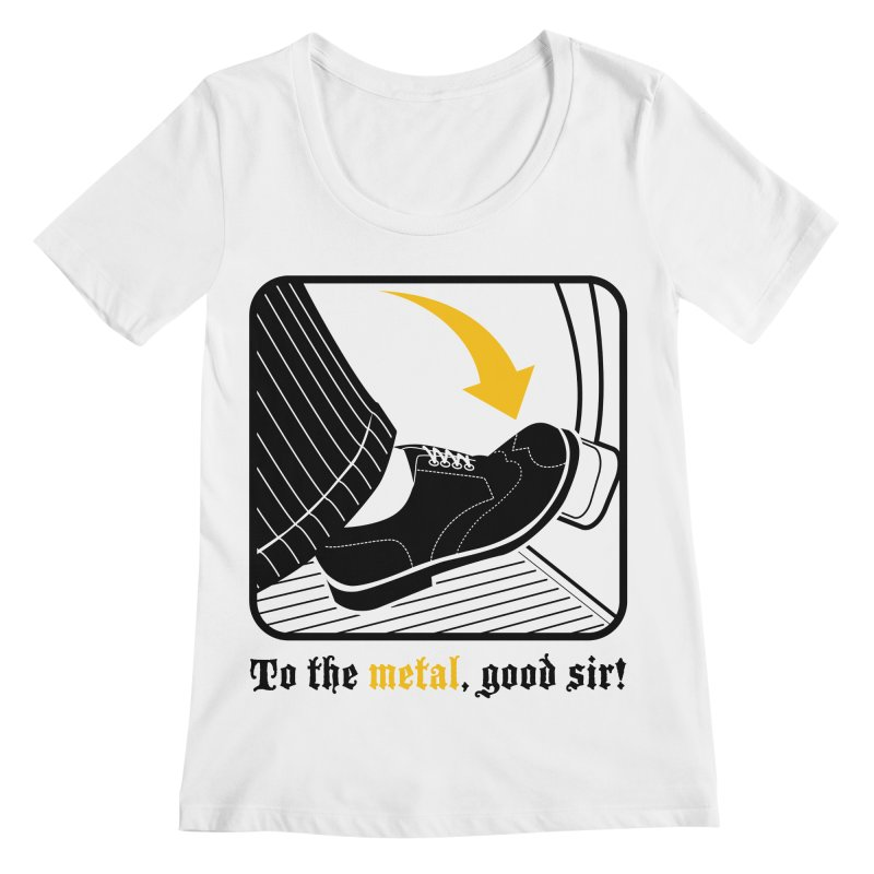 Push it Jeeves! Women's Scoopneck by mckibillo's Artist Shop