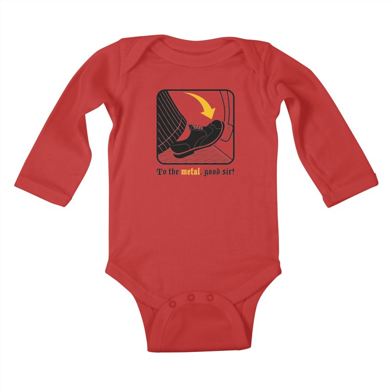 Push it Jeeves! Kids Baby Longsleeve Bodysuit by mckibillo's Artist Shop