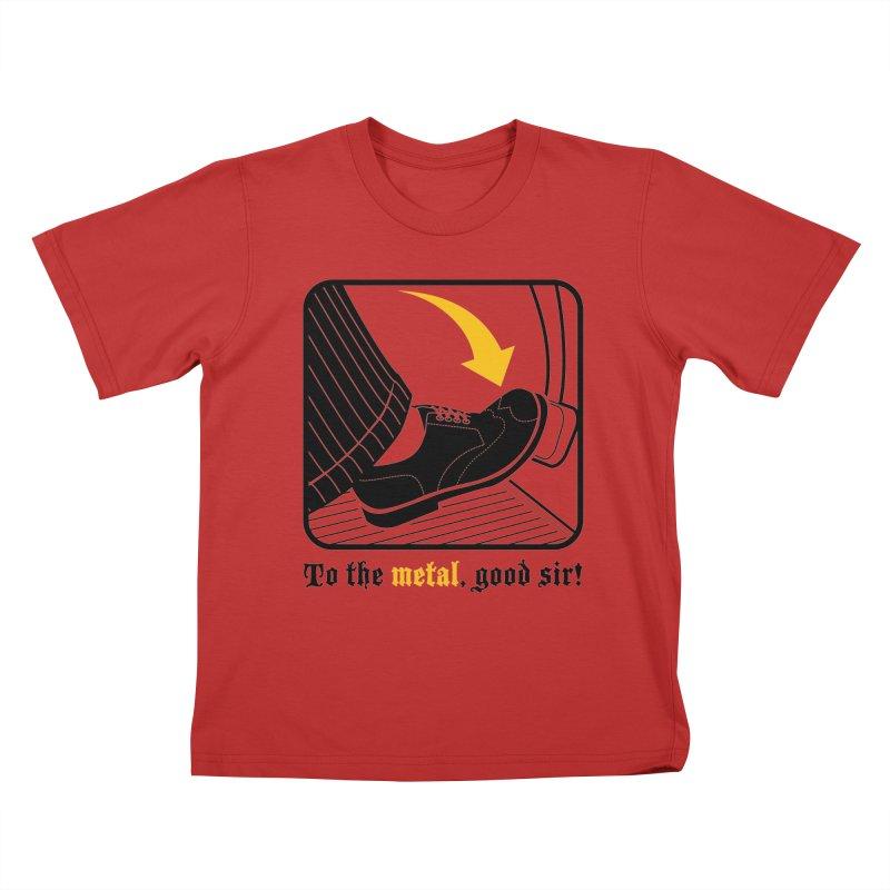 Push it Jeeves! Kids T-Shirt by mckibillo's Artist Shop