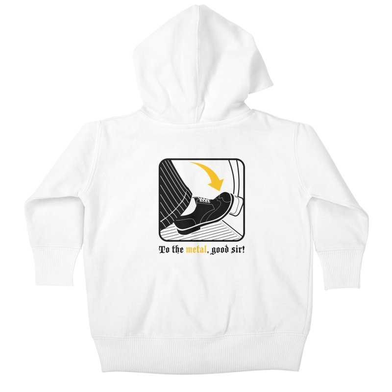 Push it Jeeves! Kids Baby Zip-Up Hoody by mckibillo's Artist Shop