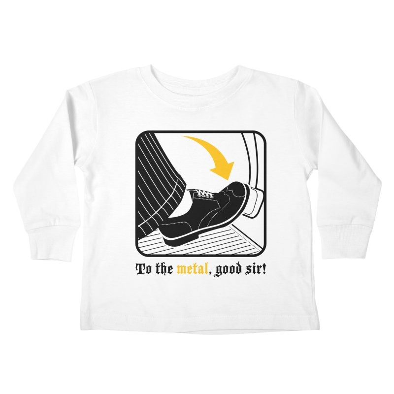 Push it Jeeves! Kids Toddler Longsleeve T-Shirt by mckibillo's Artist Shop