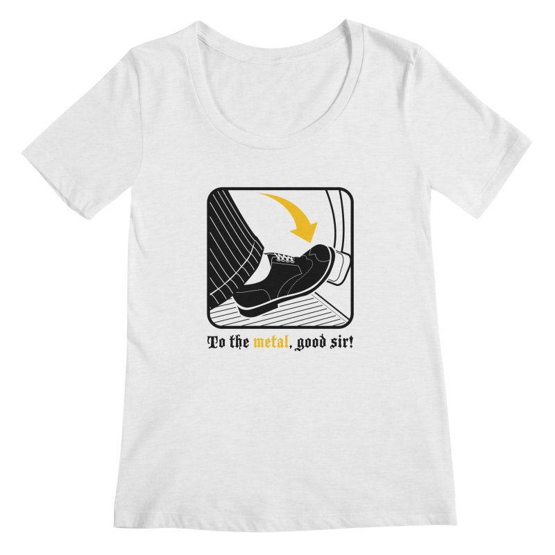 Push it Jeeves! Women's Regular Scoop Neck by mckibillo's Artist Shop