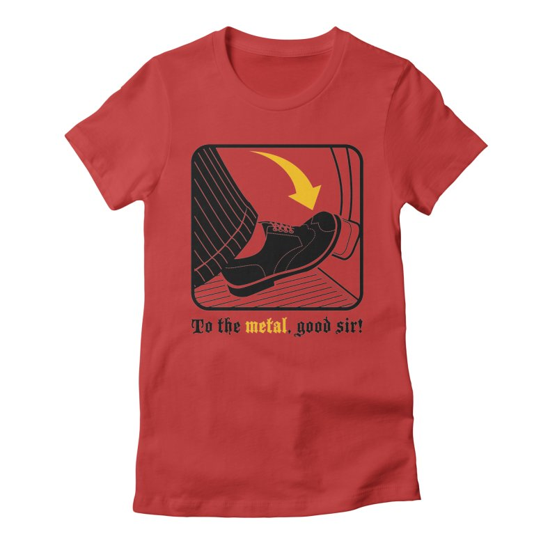Push it Jeeves! Women's Fitted T-Shirt by mckibillo's Artist Shop