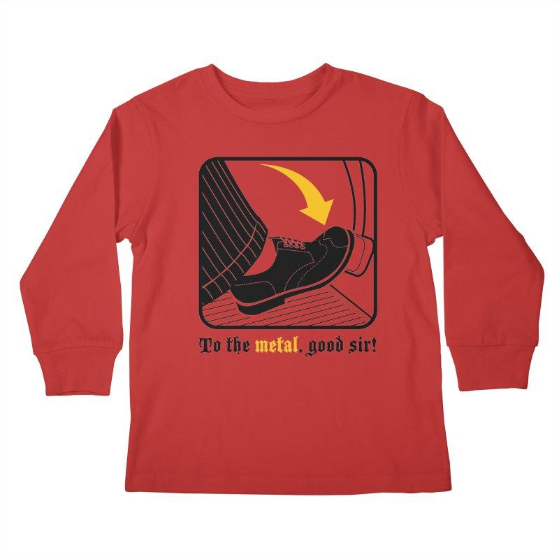 Push it Jeeves! Kids Longsleeve T-Shirt by mckibillo's Artist Shop